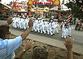 US Navy 110818-N-BX435-054 Sailors assigned to Navy Operational Support Center Indianapolis march in a parade at the Indiana State Fair.jpg