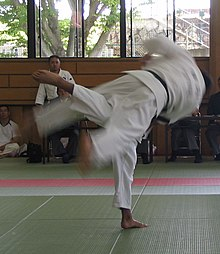 Photo of uchi-mata judo
