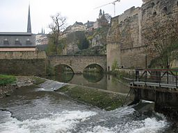 The Alzette in Luxembourg