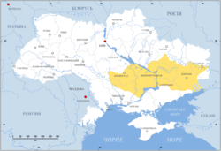 Zaporizhia (yellow) in modern Ukraine