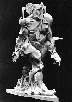 Umberto Boccioni - Umberto Boccioni, 1913, Synthèse du dynamisme humain (Synthesis of Human Dynamism), sculpture destroyed