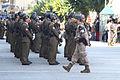 Un Policía militar custodiando la formación (15262683020).jpg