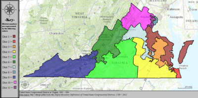 United States Congressional Districts in Virginia, 1993 – 1994.tif