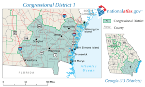 United States House of Representatives, Georgia District 01, 110th Congress.png