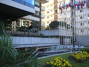 Belgrano, Buenos Aires - The front of Universidad de Belgrano
