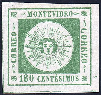 Postage stamps and postal history of Uruguay - Image: Uruguay 1859 Sc 11