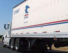Usps Contractor Driven Semi Trailer Truck Seen Ndota California
