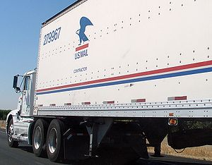 A United States Postal Service contractor-driv...