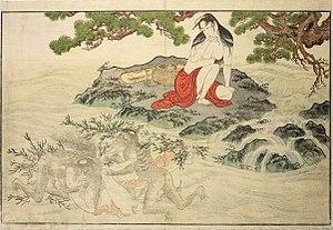 Utamakura (Utamaro) - Image: Utamaro (1788) Utamakura print No. 01 (BM, cropped)