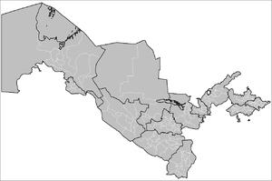 Districts of Uzbekistan - Okresi of Uzbekistan