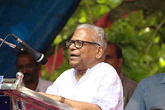 V. S. Achuthanandan - V.S. Achuthanandan speaking in an election campaign in 2016.