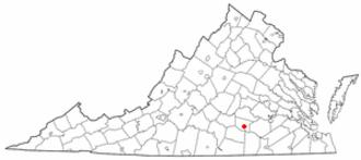 Blackstone, Virginia - Image: VA Map doton Blackstone