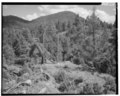 VIEW EAST - Tower Suspension Bridge, Spanning Yellowstone River at Yellowstone River Trail, Mammoth, Park County, WY HAER WYO,15-MAHOSP.V,2-4.tif