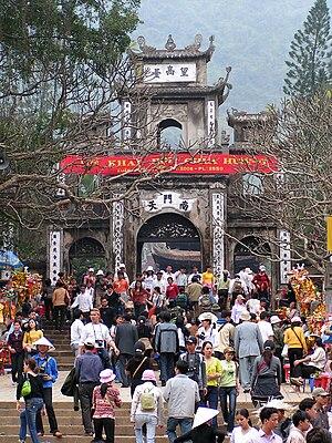 Perfume Pagoda - At the gate of Thien Tru Pagoda