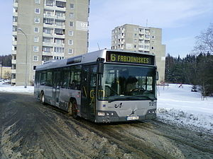 Low-floor bus - A low-floor bus of type Volvo 7000 in Vilnius, Lithuania.