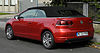 VW Golf Cabriolet (VI) – Heckansicht, 10. September 2011, Hilden.jpg