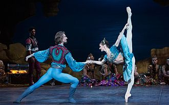 Le Corsaire - Vadim Muntagirov and Alina Cojocaru in the roles of Conrad and Medora in Le Corsaire produced by the English National Ballet