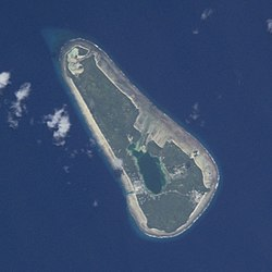 Vaitupu atoll from space