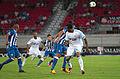Valais Cup 2013 - OM-FC Porto 13-07-2013 - Fernando, Danilo et Jordan Ayew 1.jpg