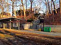 Valley Road station stairs, March 2016.JPG