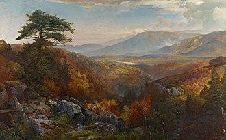 Catawissa Creek - Valley of the Catawissa in Autumn by Thomas Moran, c. 1862, in the Crystal Bridges Art Museum.