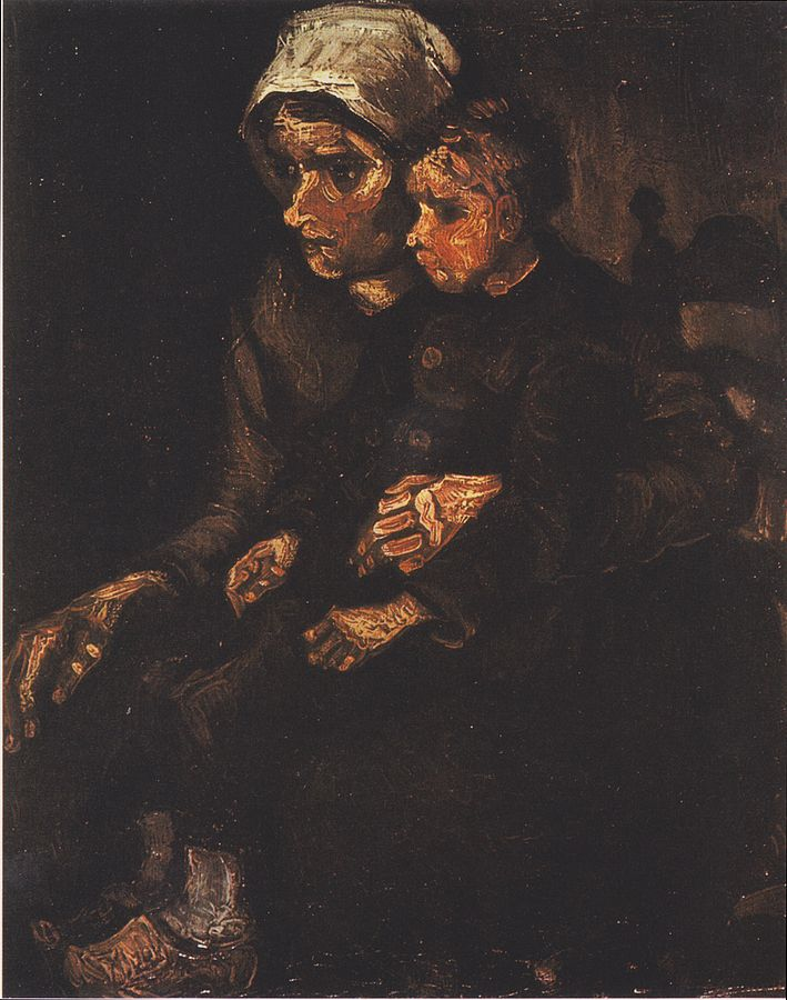 Peasant Woman with Child on Her Lap