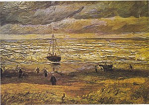 Early works of Vincent van Gogh - Beach at Scheveningen in Stormy Weather 1882 Van Gogh Museum, Amsterdam (F4)