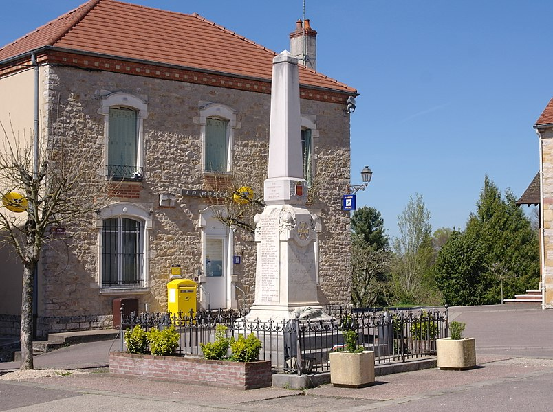 War memorial of Varennes-Saint-Sauveur (Burgundy, France).