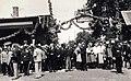Vasútállomás, a Szent Jobbot szállító szerelvény, az Aranyvonat érkezésére várokozók. A felvétel 1938. június 27.-én készült. Fortepan 100260.jpg