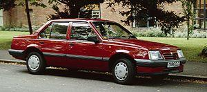 GM J platform - A 1987 Vauxhall Cavalier II, the Vauxhall version of the GM J-body.