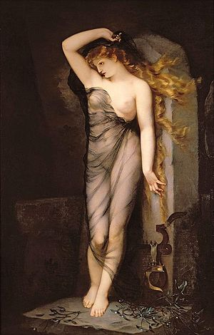 Veleda - Velleda, as imagined in a 19th-century painting by Charles Voillemot.