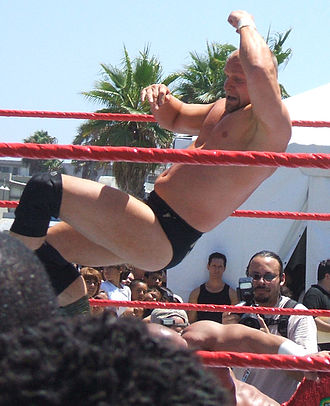 Val Venis - Morley executing an elbow drop