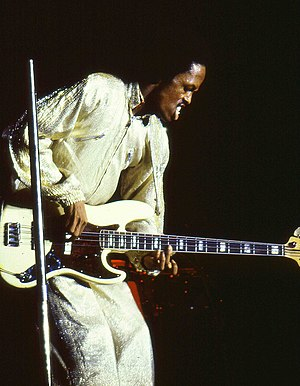 Verdine White - White performing in the Netherlands, 1982
