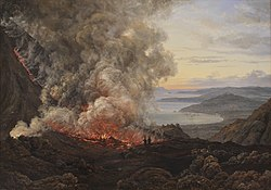 Johan Christian Dahl: Eruption of the Volcano Vesuvius, 1820