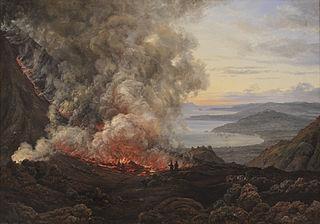 Eruption of the Volcano Vesuvius, 1820