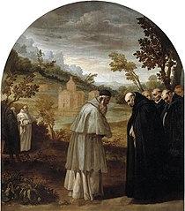 Saint Bruno Bids Farewell to Saint Hugo Before his Trip to Rome