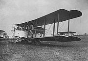 Engelskt bombplan 1918.