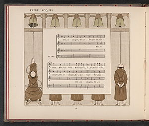 """""""Frère Jacques"""" (page 1 of 2), sheet..."""