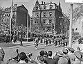 Viering van het 10 jarig bestaan van de NATO in Mainz met een militaire parade,, Bestanddeelnr 910-2728.jpg