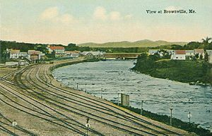 Brownville, Maine - Image: View at Brownville, ME