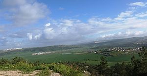Aderet, Israel - Image: View of Elah Valley from atop Aderet, March 2015