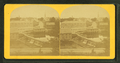 View of town with dam in foreground, churches, homes, other buildings, from Robert N. Dennis collection of stereoscopic views.png
