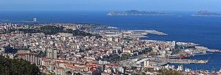 Vigo City in Galicia, Spain