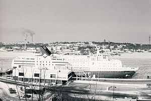 MS Regina Baltica - Viking Song in Stockholm, 1984.