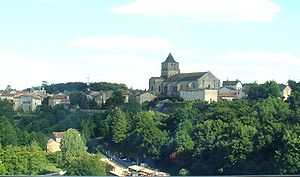 Lusignan, Vienne - A general view of Lusignan