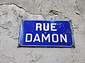Villeurbanne - Rue Damon - Plaque (mars 2019).jpg