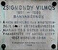 VilmosZsigmondy plaque (Budapest MargaretIsland).jpg