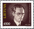 Vincas Mykolaitis-Putinas 1993 Lithuanian stamp.jpg