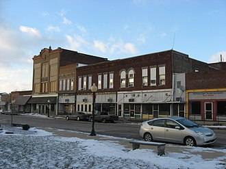 National Register of Historic Places listings in Greene County, Indiana - Image: Vincennes in downtown Linton