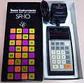 "Vintage Texas Instruments Model SR-10 Pocket LED Calculator, First of a Line of TI ""Slide Rule"" Models, Sealed Battery, Price - 149.95 USD, Circa 1972 (14592862578).jpg"